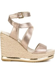 Hogan Wedge Sandals Nude And Neutrals