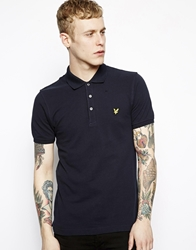 Lyle And Scott Vintage Polo With Eagle Logo Navy