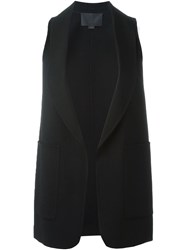 Alexander Wang Shawl Collar Top Black
