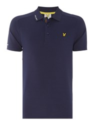 Lyle And Scott Hawick Technical Polo Shirt Navy