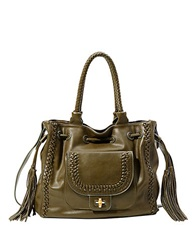 Big Buddha Luella Faux Leather Shoulder Bag Olive