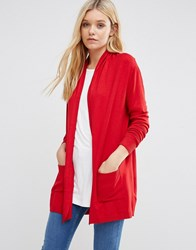 Lavand Classic Red Longline Cardigan R Red