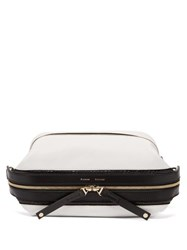 Proenza Schouler Two Tone Grained Leather Belt Bag White Multi