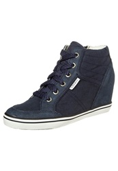 Esprit Gladys Hightop Trainers Navy Blue