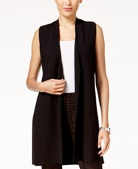 Alfani Vest Cardigan Created For Macy's Deep Black
