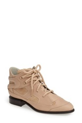 Plomo 'Penny' High Top Leather And Suede Sneaker Beige