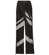 Givenchy Silk And Lace Trousers Black