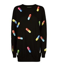 Moschino Pill Print Jumper Dress Female Multi