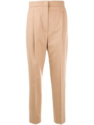 Max Mara High Waisted Trousers Nude And Neutrals