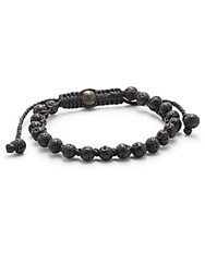 Jan Leslie Cotton Cord Pull Through Bracelet Black