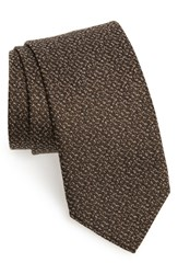 David Donahue Solid Silk And Cotton Tie
