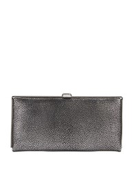Lodis Metallic Snap Top Leather Wallet
