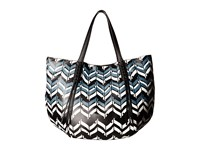 Ivanka Trump Hudson Double Shoulder Chevron Chevron Non Leather Shoulder Handbags Black