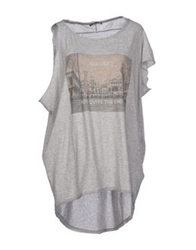 Paolo Pecora Donna T Shirts Grey