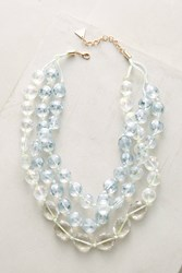 Anthropologie Orbital Layered Necklace Mint