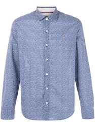 Napapijri Patterned Shirt Blue