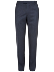 Jaeger Wool Herringbone Suit Trousers Navy