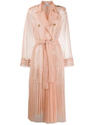 Red Valentino Tulle Sheer Trench Coat 60