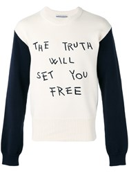 Andrea Pompilio 'The Truth' Jumper White