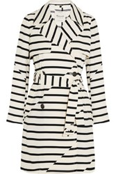 Madewell Parcel Striped Crepe Trench Coat Off White