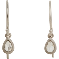 Tate Diamond And Gold Pear Shape Drop Earrings