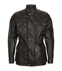 Belstaff Trialmaster Leather Jacket Male Black