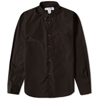 Comme Des Garcons Shirt Button Down Classic Poplin Shirt Black