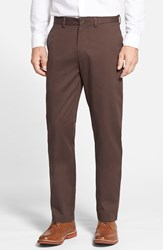 Men's Big And Tall Nordstrom Wrinkle Free Straight Leg Chinos Brown Seal