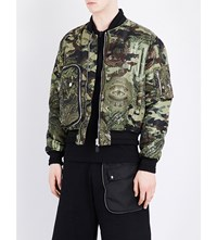 Givenchy Camo Print Shell Bomber Jacket Green
