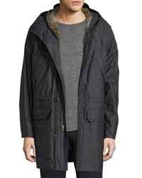 Billy Reid Camden Fur Lined Parka Black