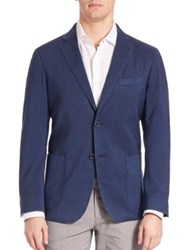 Saks Fifth Avenue Frosted Wash Wool Sportcoat Navy