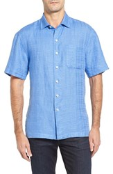 Tommy Bahama Men's The Big Bossa Standard Fit Sport Shirt Blue Yonder