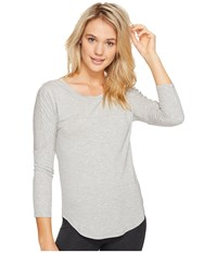 Pj Salvage Modal Long Sleeve Tee Grey Women's Long Sleeve Pullover Gray
