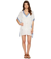 Tommy Bahama Embroidered Tunic Cover Up White Women's Swimwear