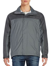 Marmot Precip Lightweight Colorblocked Jacket Cinder Slate Grey