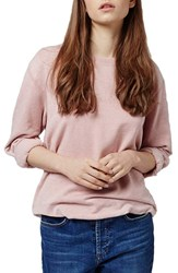 Petite Women's Topshop Supersoft Washed Sweatshirt