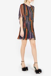 Missoni Women S Metallic Fringed Mini Dress Boutique1 Multi