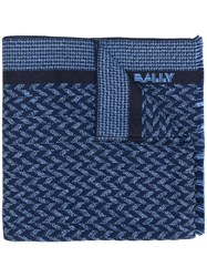 Bally Logo Knitted Scarf Blue