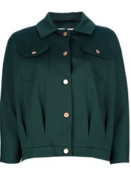 Veronique Branquinho Cropped Jacket Green