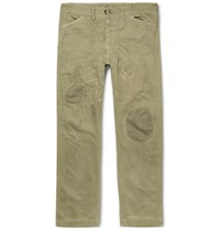 Rrl Patchwork Herringbone Cotton Chinos Sage Green