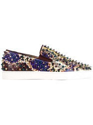 Christian Louboutin Studded Slip On Sneakers