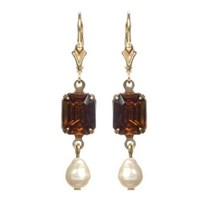 Passionate About Vintage Georgian Rhinestone Earrings In Topaz