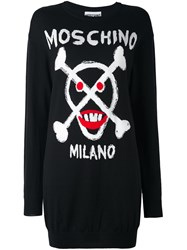Moschino Skull Intarsia Dress Black