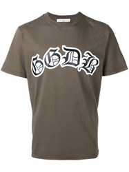 Golden Goose Deluxe Brand Logo Front T Shirt Brown