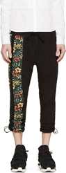 Y 3 Black Hibiscus Accent Cropped Lounge Pants
