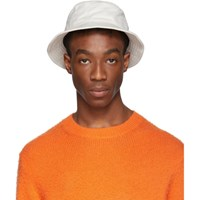 Acne Studios Off White Twill Buk A Bucket Hat