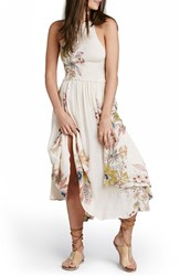 Women's Free People 'Season In The Sun' Floral Print Slipdress Ivory Combo
