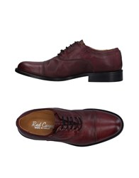 Red Carpet Lace Up Shoes Maroon