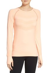 Zella Women's Infrasonic Seamless Top Coral Sunlight
