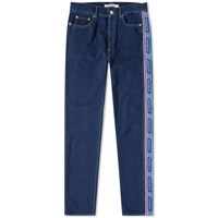 Givenchy Logo Taping Slim Jean Blue